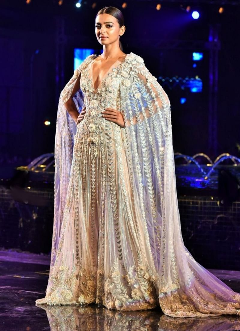 Radhika Apte stuns in a white sheer gown for Manish Malhotra