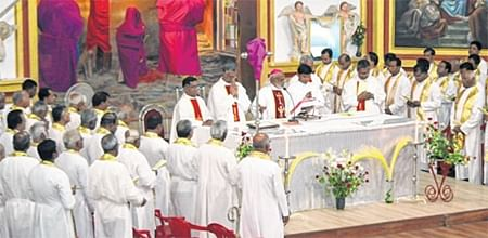 Indore: Chrism Mass held at Red Church under Holy Week
