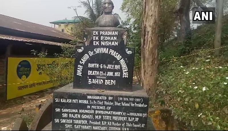 Statue razing continues: Shyama Prasad Mukherjee's statue vandalised in Assam