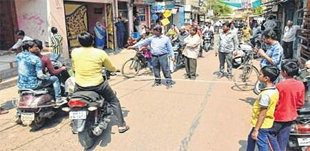 Ujjain: UMC marks houses in Lalbai Phoolbai area for road widening