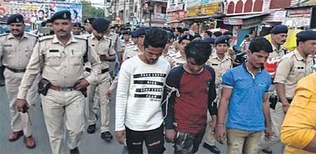 Bhopal: Criminals paraded, illegal property bulldozed