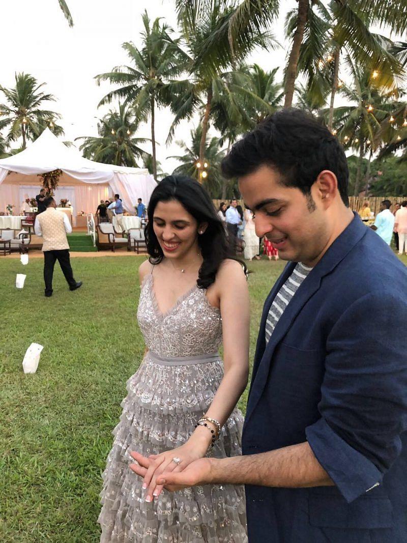 First exclusive pictures of billionaire Mukesh Ambani's son Akash Ambani's engagement with Shloka Mehta