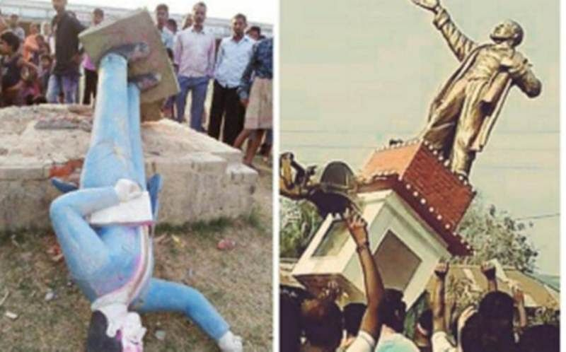 Falling statues: From Lenin to Ambedkar, 5 statues vandalised in 2 days in India