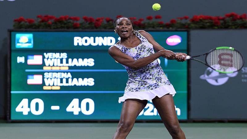 Miami Open: Venus Williams outlast Kiki Bertens to set up clash with Johanna Konta