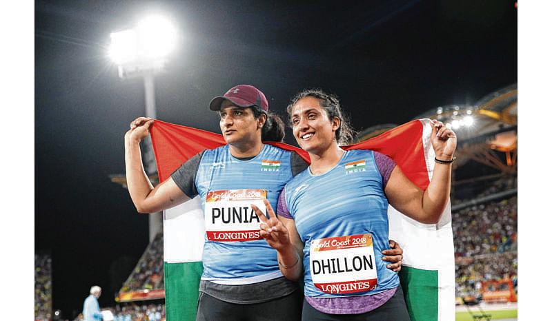 Punia, Dhillon win silver & bronze in discus throw