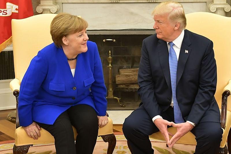 Donald Trump, Angela Merkel discuss Iran nuclear deal