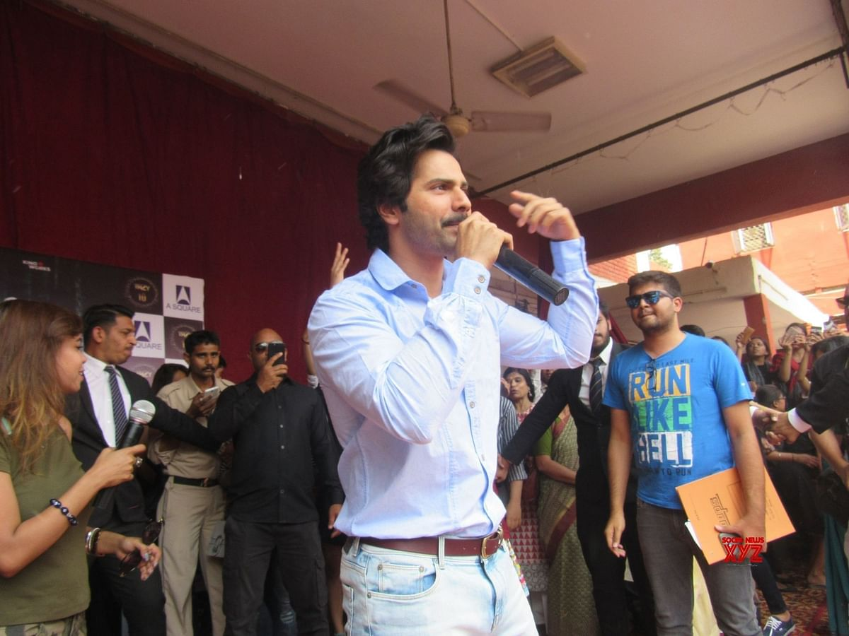 'October' star Varun Dhawan visits Delhi college for film promotion, interacts with students