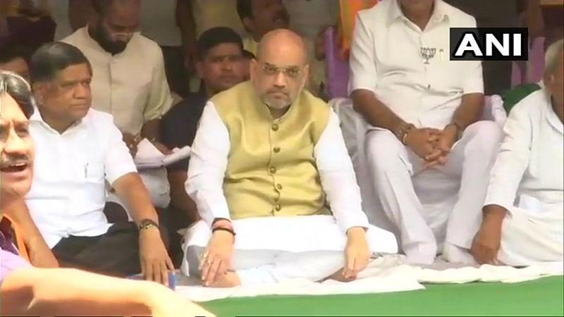 BJP Fast: Gujarat CM Vijay Rupani observes fast in Gandhinagar