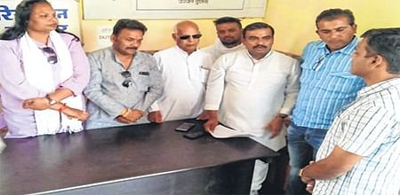 Ujjain: BJP's party flag breaks turret of tower