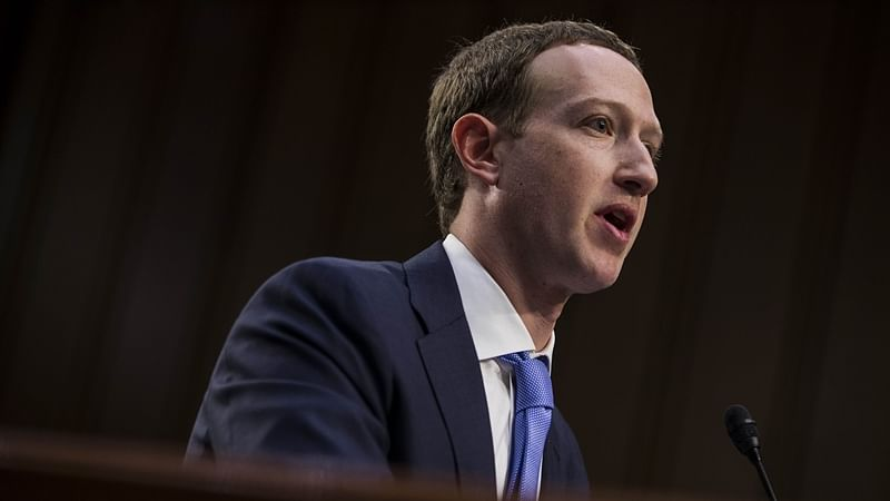 Facebook co-founder, Chairman and CEO Mark Zuckerberg testifies before a combined Senate Judiciary and Commerce committee. Photo by Zach Gibson/Getty Images