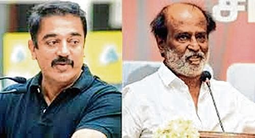 Cauvery row: Rajinikanth, Kamal observe silent protest with actors