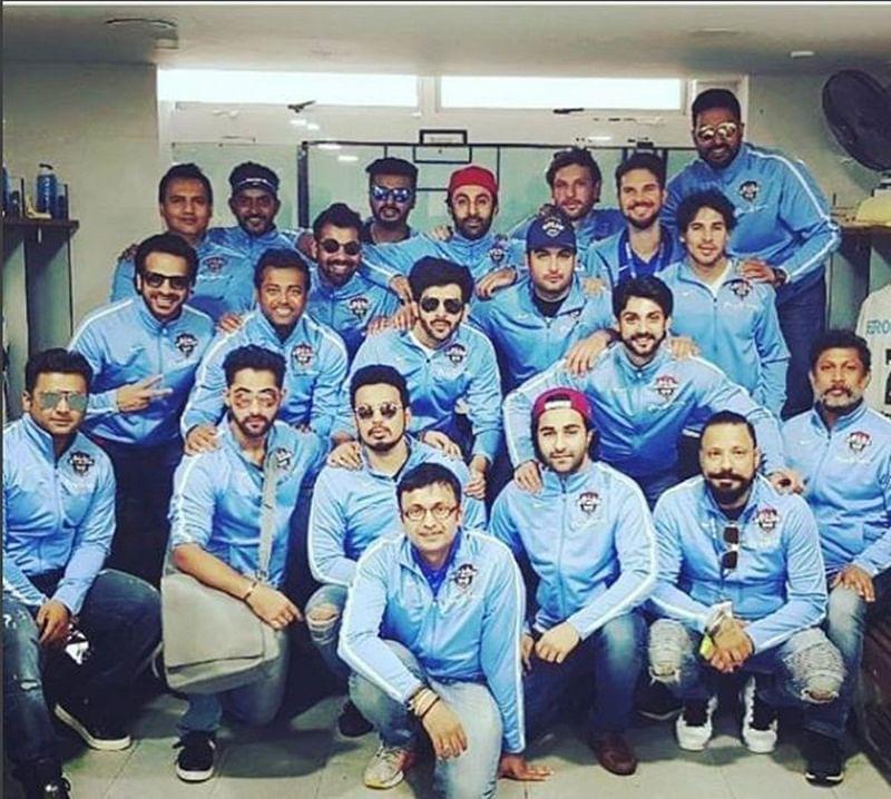 Celebrity Football Match: Vivian Dsena, Karan Wahi play football with Ranbir Kapoor, Abhishek Bachchan in Singapore