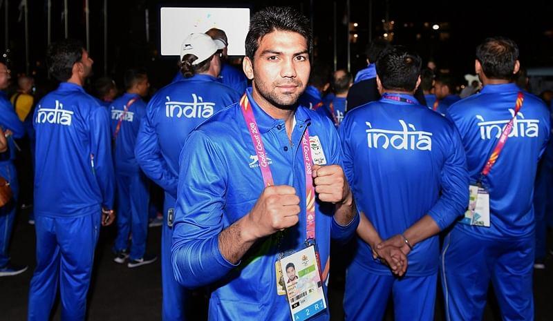 Indian boxer Manoj Kumar