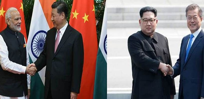 India-China and North Korea-South Korea: The Tale of two summits