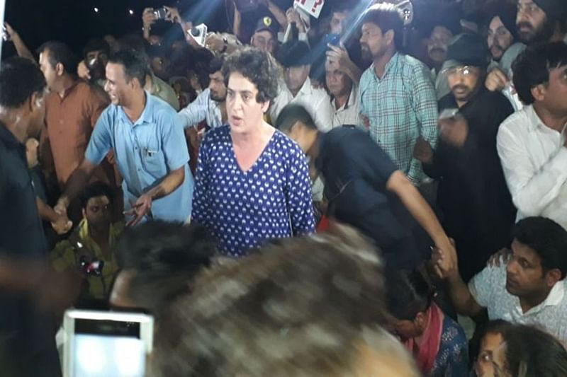 Midnight march: Priyanka Gandhi miffed after being pushed at India Gate