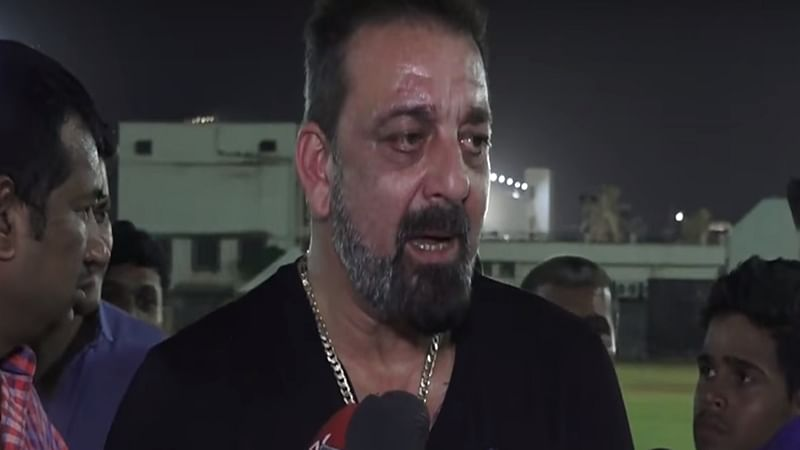 Sanjay Dutt gets angry on being asked about Madhuri Dixit; watch video