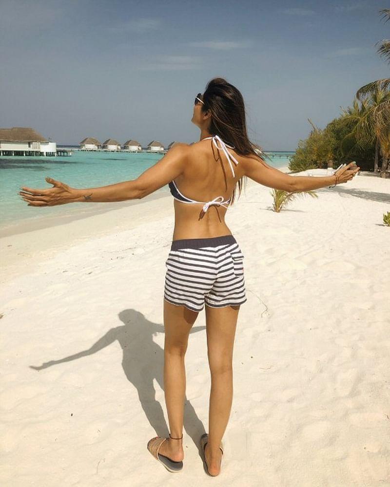 Shilpa Shetty looks stunning in a bikini in Maldives