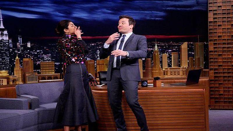 Watch: Priyanka Chopra challenges Jimmy Fallon for skittles challenge