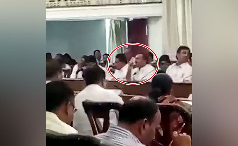 BJP Fast: Maharashtra BJP MLAs caught on tape while 'snacking' during day long fast