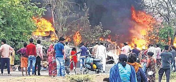 Bhopal: Nearly 60 shanties gutted in fire