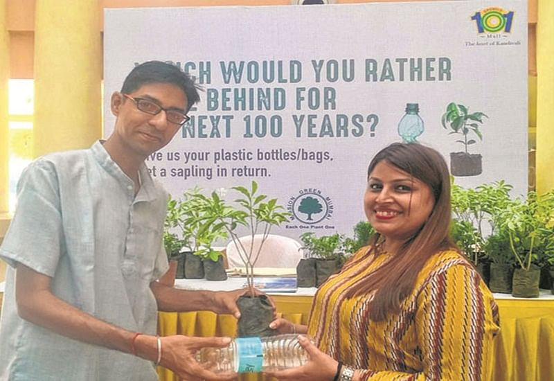 Mission Green Mumbai NGO exchanges your plastic with saplings