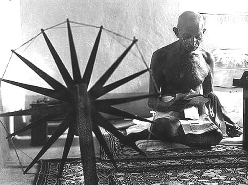 Gandhi's experience of not being allowed to enter a temple in Kerala