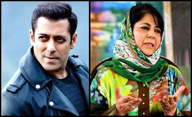 'Race 3' star Salman Khan meets J&K CM Mehbooba Mufti in Kashmir