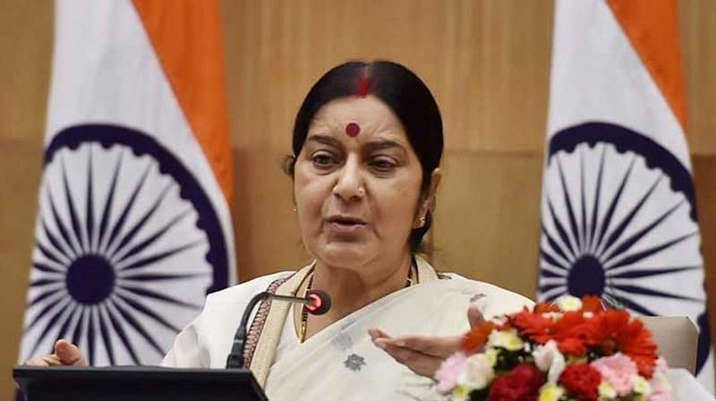 Sushma Swaraj visits Buddhist monastery ahead of 6th India-Mongolia meet