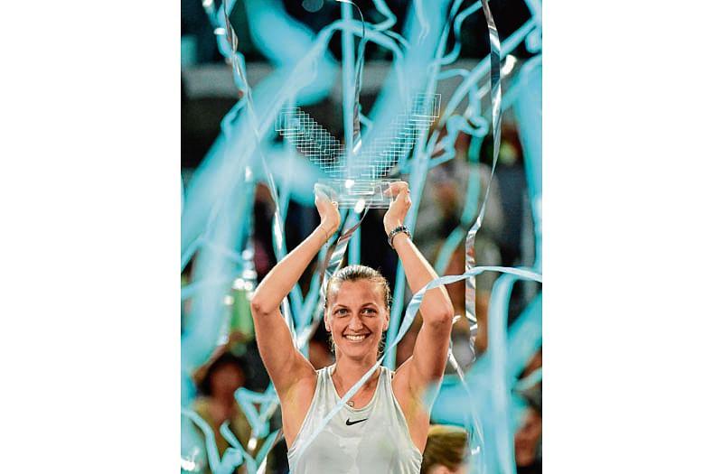 Kvitova tames Bertens to win her third Madrid Open title