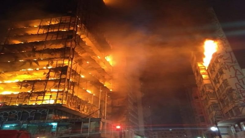 Brazil Fire: 26-storey building in Sao Paulo collapses