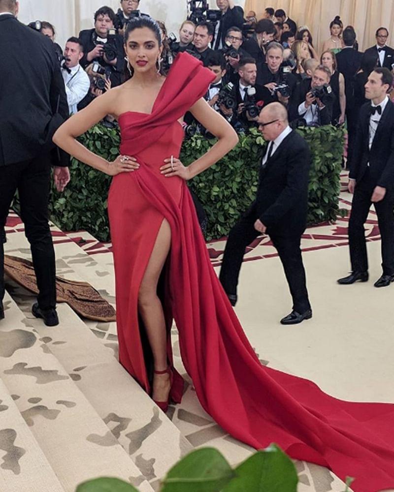 Met Gala 2018: Deepika Padukone rocks in red on the carpet