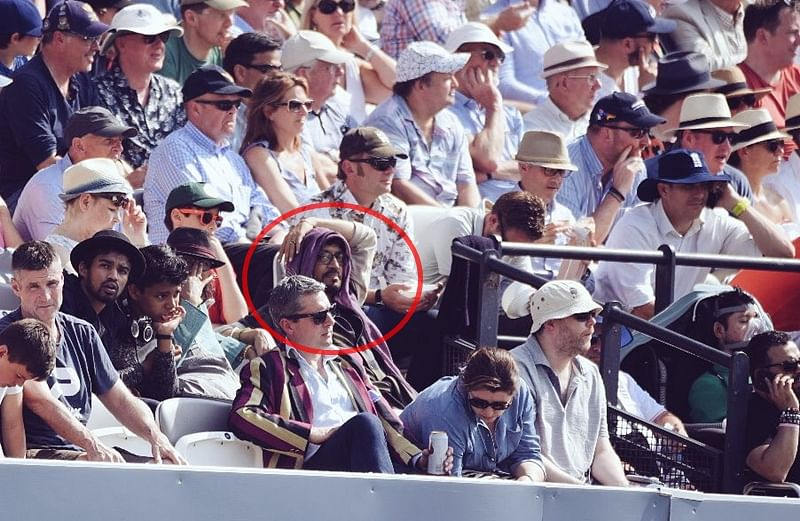 Is that Irrfan Khan watching the first Test at Lord's between England vs Pakistan?