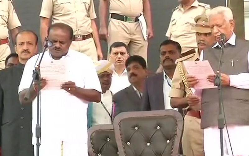 Karnataka govt formation: H D Kumaraswamy takes oath as CM amidst Opposition leaders
