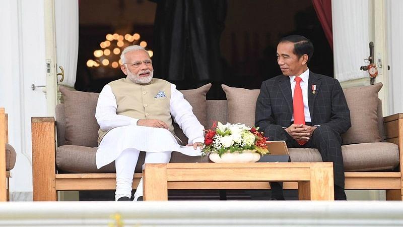PM Narendra Modi, Indonesian President Joko Widodo inaugurate kite exhibition themed on Indian epics