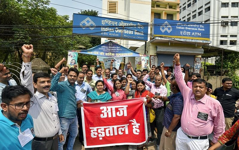 Bank unions to strike later this month against mega-merger of 10 nationalised banks