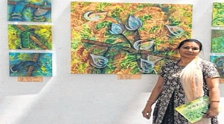 Indore: Rangoli, drawing honed Ruchi Agrawal'spainting skills