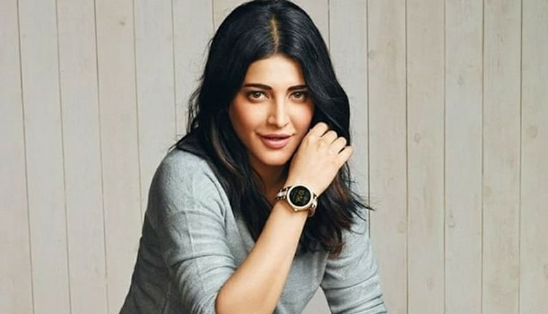 Holiday over, Shruti Haasan is back to work