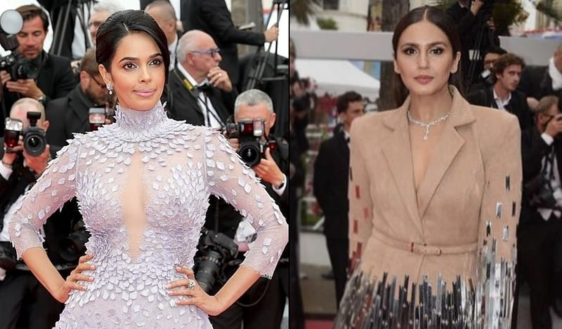 Cannes 2018: Mallika Sherawat, Huma Qureshi opt for not so bold looks on red carpet
