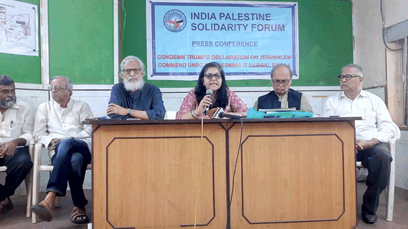 India-Palestine Solidarity Forum criticises 'double-faced' Centre