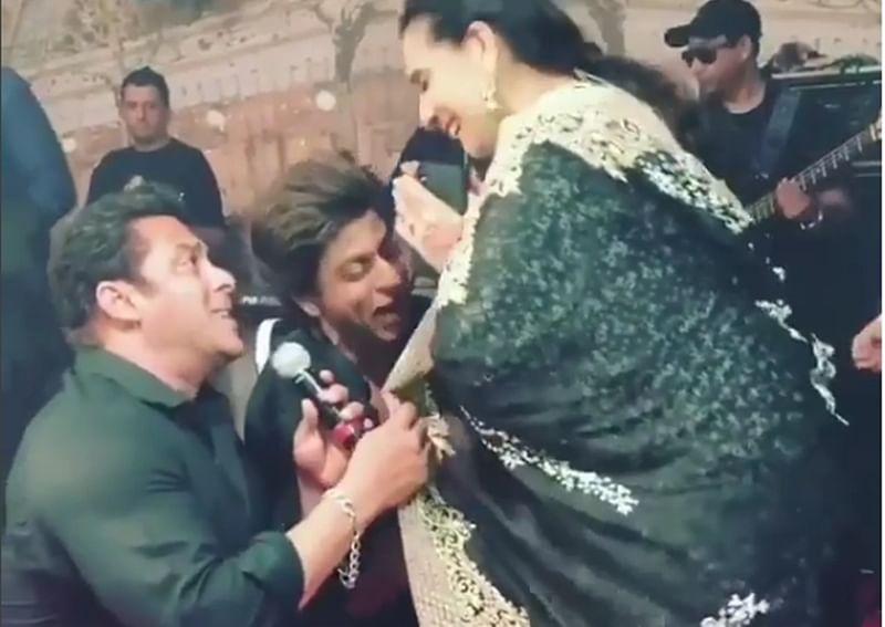 Sonam Kapoor-Anand Ahuja Wedding: Watch Salman, Shah Rukh woo Sunita Kapoor in their inimitable style