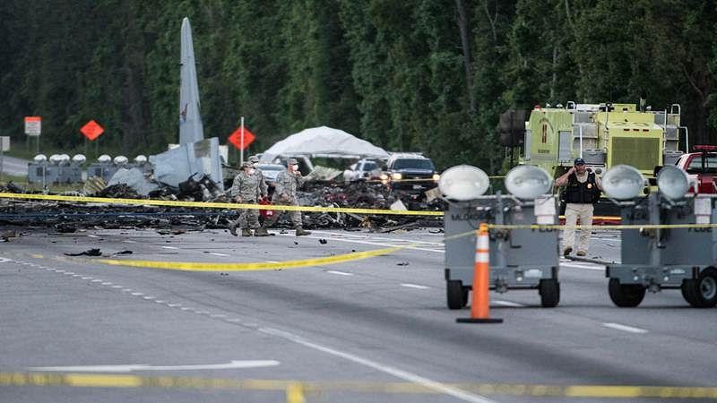 US:  9 dead in military plane crash