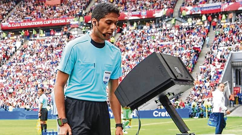 Referees watching slow motion videos flash more red cards