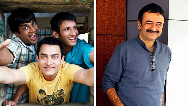 R. Madhavan, Aamir Khan, Sharman Joshi and Rajkumar Hirani (R)