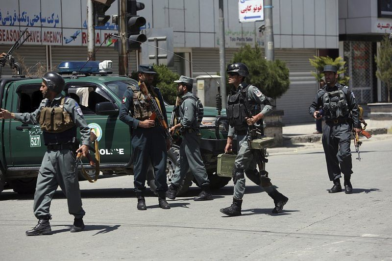 Suicide bombing kills 9 policemen in Afghanistan