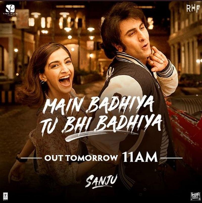 Ranbir Kapoor and Sonam Kapoor's 'Badhiya' from 'Sanju' all set to release on Sunday