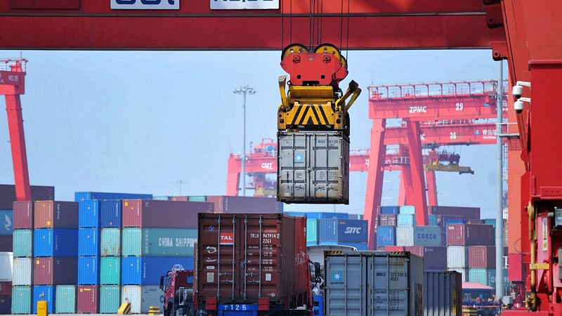 Japan's imports for the month grew 32.7 percent, totaling 6.83 trillion yen ($62 billion). Exports for the month totaled 7.2 trillion yen ($66 billion), according to government data.
