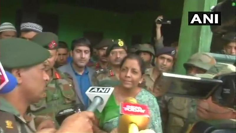 Defence Minister Nirmala Sitharaman visits rifleman Aurangzeb's family in Jammu and Kashmir