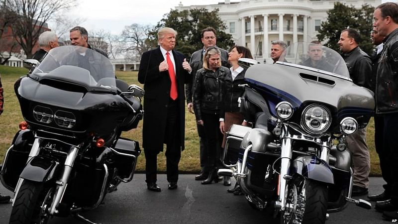 Harley-Davidson moving some production overseas; Donald Trump 'surprised'