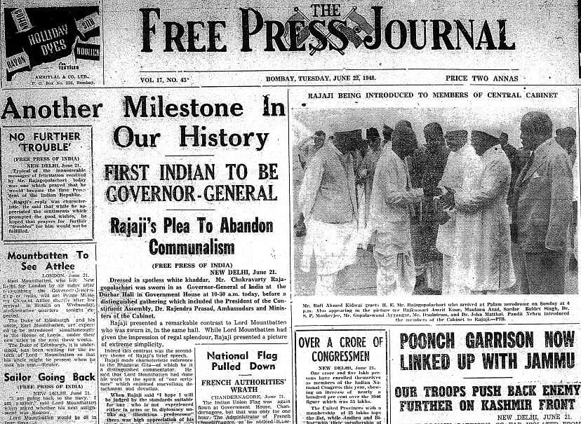 On This Day in History: June 21, 1948 – Lord Mountbatten resigned as the Governor General of India