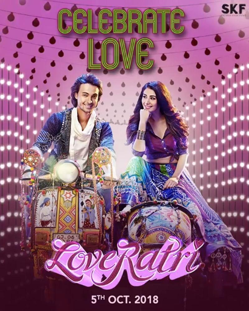 'Loveratri' motion poster: Aayush Sharma and Warina Hussain look dashing in Gujarati festive attire
